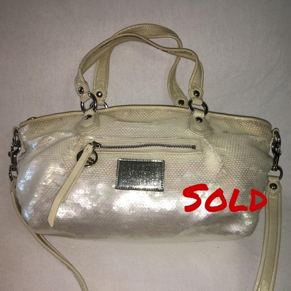 Coach Handbags - SOLD! COACH Poppy Opal Sequins Rocker Satchel